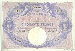 50 Francs BLEU ET ROSE FRANCE  1919 F.14.32 pr.SUP