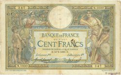 100 Francs LUC OLIVIER MERSON sans LOM FRANCE  1909 F.23.01 B