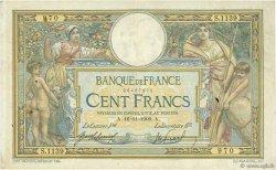 100 Francs LUC OLIVIER MERSON sans LOM FRANCE  1909 F.23.01 TB