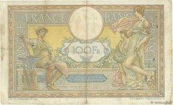 100 Francs LUC OLIVIER MERSON sans LOM FRANCE  1912 F.23.04 B+