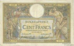 100 Francs LUC OLIVIER MERSON sans LOM FRANCE  1913 F.23.05 pr.TB