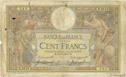 100 Francs LUC OLIVIER MERSON sans LOM FRANCE  1915 F.23.07 AB