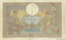 100 Francs LUC OLIVIER MERSON sans LOM FRANCE  1915 F.23.07 TB