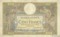 100 Francs LUC OLIVIER MERSON sans LOM FRANCE  1916 F.23.08 B
