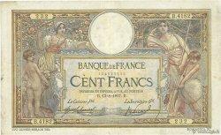 100 Francs LUC OLIVIER MERSON sans LOM FRANCE  1917 F.23.09 B+