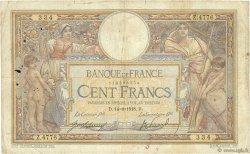 100 Francs LUC OLIVIER MERSON sans LOM FRANCE  1918 F.23.10 B