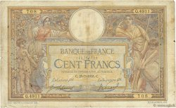 100 Francs LUC OLIVIER MERSON sans LOM FRANCE  1918 F.23.10 pr.B