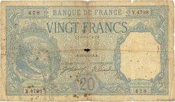 20 Francs BAYARD FRANCE  1918 F.11.03 B