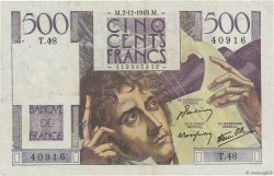 500 Francs CHATEAUBRIAND FRANCE  1945 F.34.03 pr.TTB