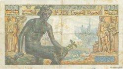 1000 Francs DÉESSE DÉMÉTER FRANCE  1942 F.40.03 TB