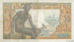1000 Francs DÉESSE DÉMÉTER FRANCE  1943 F.40.19 TTB