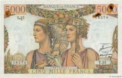 5000 Francs TERRE ET MER FRANCE  1949 F.48.02 pr.SUP