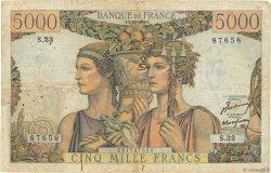 5000 Francs TERRE ET MER FRANCE  1949 F.48.02 B