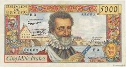 5000 Francs HENRI IV FRANCE  1957 F.49.01 TB à TTB