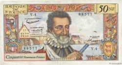50 Nouveaux Francs HENRI IV FRANCE  1959 F.58.01 pr.TTB