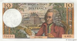 10 Francs VOLTAIRE FRANCE  1973 F.62.60 pr.SUP