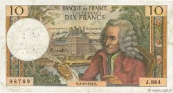 10 Francs VOLTAIRE FRANCE  1973 F.62.61 TB