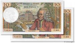 10 Francs VOLTAIRE FRANCE  1973 F.62.63 SUP