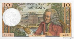 10 Francs VOLTAIRE FRANCE  1973 F.62.64 SUP