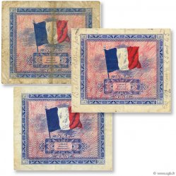 Lot 3 billets du Trésor FRANCE  1944 VF.16-17-18 TB