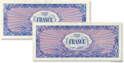 Lot 2 billets du Trésor FRANCE  1945 VF.24-25 TTB+