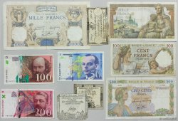 Lot de 10 billets : Pour Débuter une collection FRANCE  1792 Ass.25-35-42-F.26-32-38-40-73-74-75 B à TB