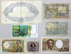 Lot de 7 billets : Pour Débuter une collection FRANCE  1939 F.07-12-19-30-70-76-VF.16 B à TB