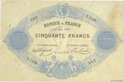 50 Francs type 1868 Indices Noirs FRANCE  1883 F.A38.13 B+