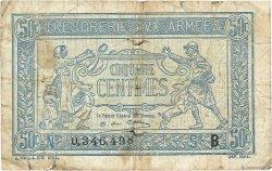 50 Centimes TRÉSORERIE AUX ARMÉES FRANCE  1917 VF.01.02 B