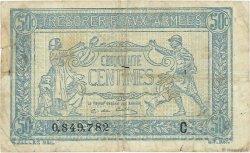 50 Centimes TRÉSORERIE AUX ARMÉES FRANCE  1917 VF.01.03 TB