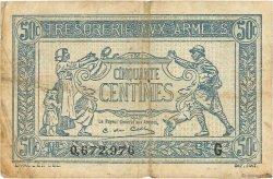 50 Centimes TRÉSORERIE AUX ARMÉES FRANCE  1917 VF.01.07 TB