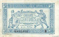 50 Centimes TRÉSORERIE AUX ARMÉES FRANCE  1917 VF.01.08 TTB