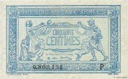50 Centimes TRÉSORERIE AUX ARMÉES FRANCE  1917 VF.01.16 SUP