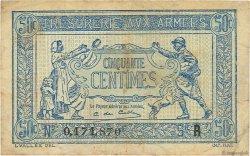 50 Centimes TRÉSORERIE AUX ARMÉES FRANCE  1919 VF.02.01 TTB