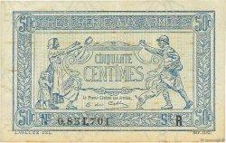 50 Centimes TRÉSORERIE AUX ARMÉES FRANCE  1919 VF.02.01 TTB+