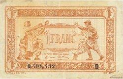 1 Franc TRÉSORERIE AUX ARMÉES FRANCE  1917 VF.03.04 TTB