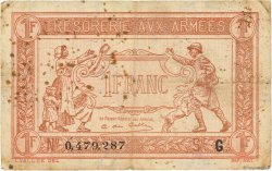 1 Franc TRÉSORERIE AUX ARMÉES FRANCE  1917 VF.03.07 TB+