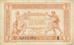 1 Franc TRÉSORERIE AUX ARMÉES FRANCE  1917 VF.03.11 TTB