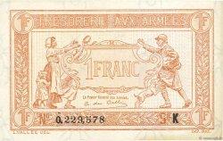 1 Franc TRÉSORERIE AUX ARMÉES FRANCE  1917 VF.03.11 SUP