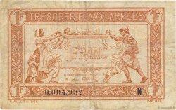 1 Franc TRÉSORERIE AUX ARMÉES FRANCE  1919 VF.04.01 TB