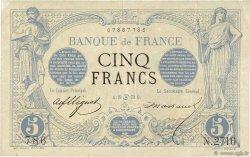 5 Francs NOIR FRANCE  1873 F.01.18 TB+