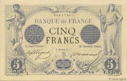 5 Francs NOIR FRANCE  1872 F.01.12 SPL