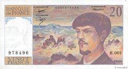 20 Francs DEBUSSY FRANCE  1980 F.66.01 TTB+