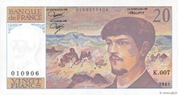 20 Francs DEBUSSY FRANCE  1981 F.66.02 SUP
