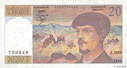 20 Francs DEBUSSY FRANCE  1982 F.66.03 TTB