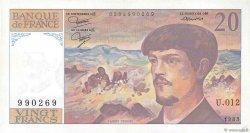 20 Francs DEBUSSY FRANCE  1983 F.66.04 SPL