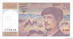 20 Francs DEBUSSY FRANCE  1987 F.66.08 SPL+