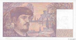 20 Francs DEBUSSY FRANCE  1989 F.66.10 SUP