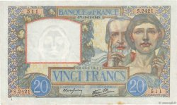 20 Francs TRAVAIL ET SCIENCE FRANCE  1940 F.12.11 TTB+