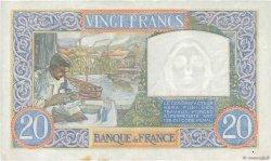 20 Francs SCIENCE ET TRAVAIL FRANCE  1940 F.12.11 TTB+